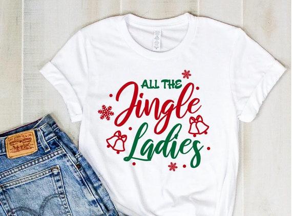 Christmas SVG, Jingle Ladies SVG, Jingle Christmas Saying Svg, Christmas Clip Art,  Christmas Cut Files, Cricut, Silhouette Cut File