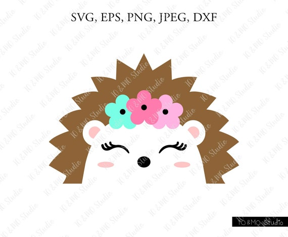 Hedgehog Svg Cute Hedgehog Face Svg Hedgehog Clip Art Etsy