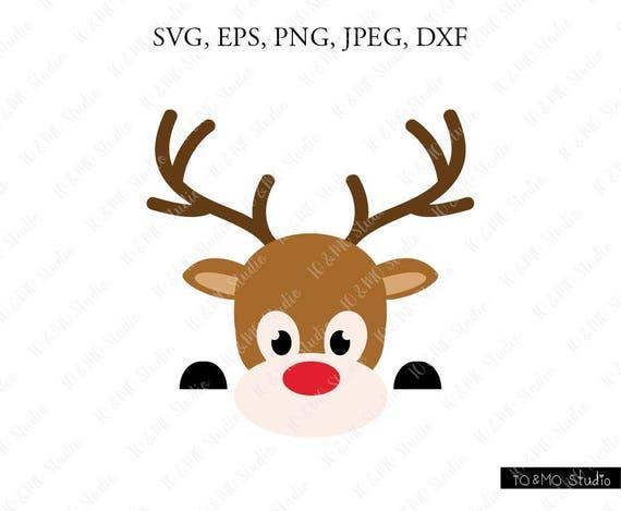 Reindeer svg Print or more Instant files download svg Reindeer Head Digital clipart for Design Cut files dxf Reindeer Head svg png
