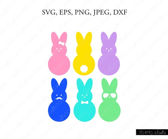 Svg File Peep SVG Siilhouette Cut Files, Peeps Easter Svg Easter Bunny SVG Easter SVG Cricut Cut Files Chillin with my Peeps Svg