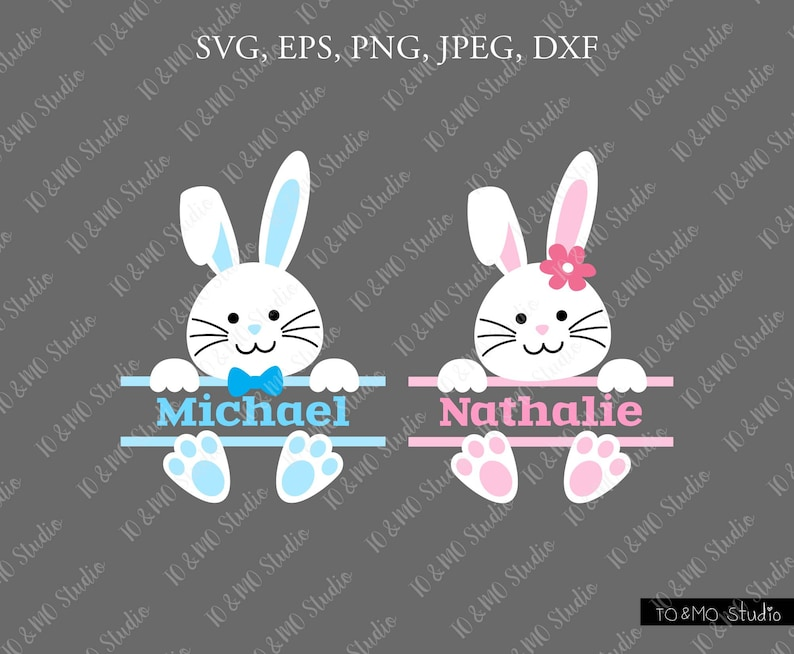 Bunny Svg Easter Svg Bunny Split Svg Cute Bunny Svg Bunny