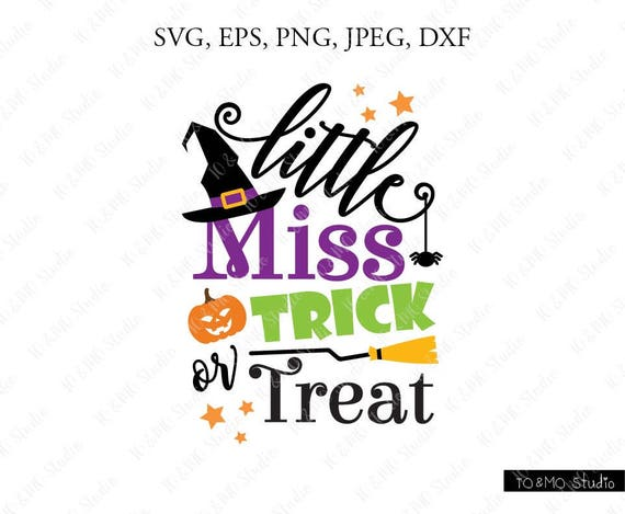 Little Miss Trick Or Treat Svg Halloween Clip Art Svg Etsy