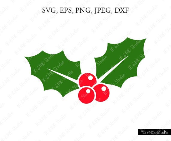 Christmas Holly Silhouette.Holly Svg Christmas Holly Svg Christmas Clip Art Christmas Svg Winter Svg Holly Christmas Svg Cricut Silhouette Cut File