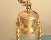 Exceptional Bronze coffee grinder very old and heavy. Very decorative object collection