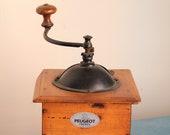 Antique coffee grinder Peugeot. Model R size 4