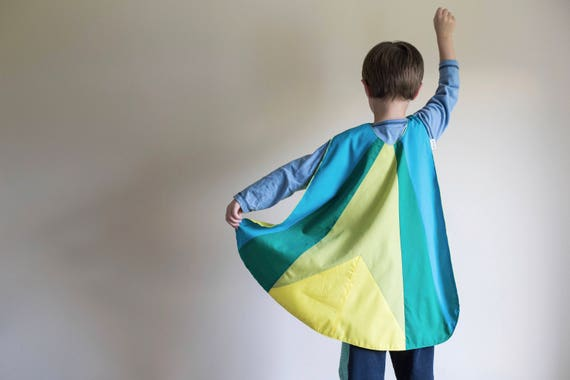 Kids Toddler Superhero Polycotton Cape Children in Need CIN Spots UK