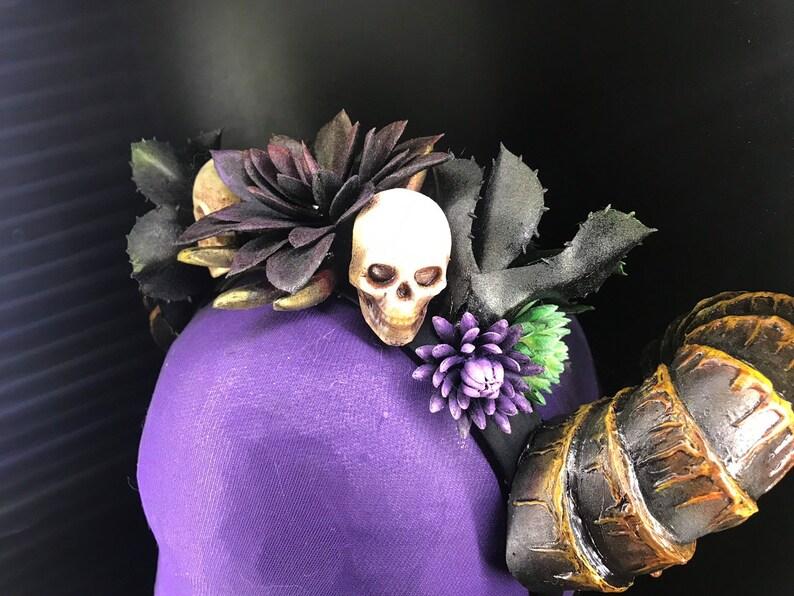 Succulent horned headdress