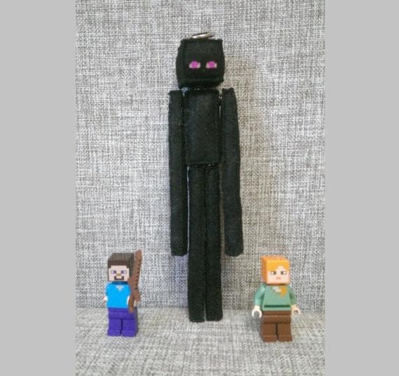 Minecraft Enderman Stuffed Felt Handmade Plush Computer Game Birthday Gift Mining Fan Felt Keychain Enderman