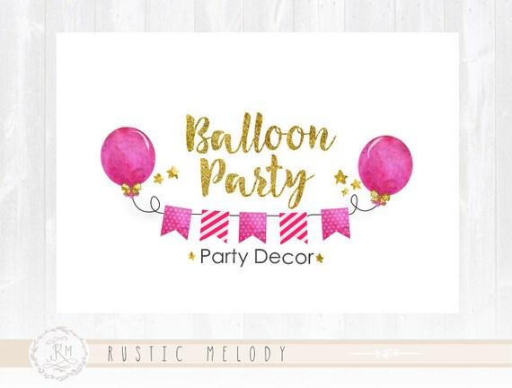 balloon party logo gifts logo children logo kids logo etsy
