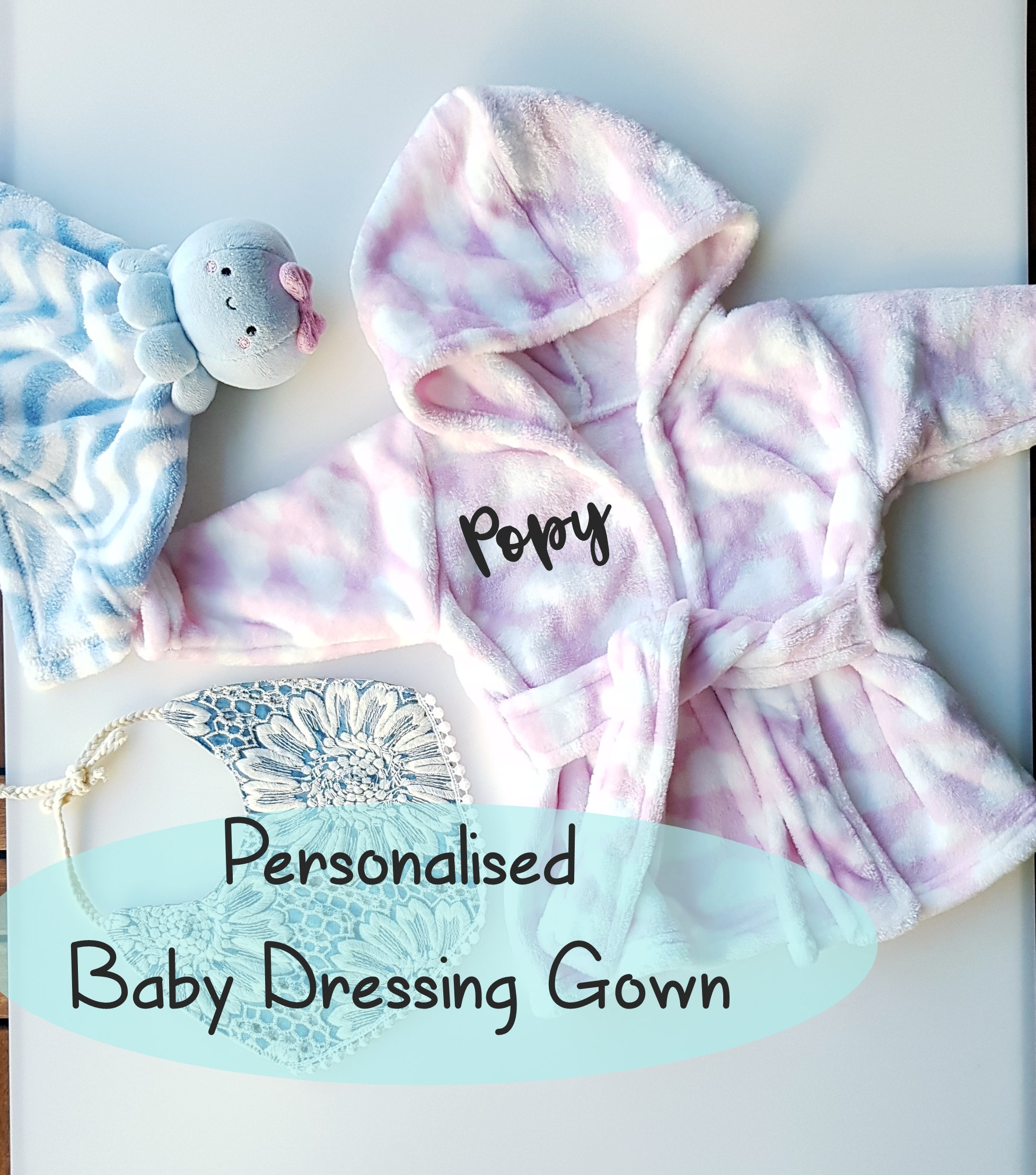 5d0eddf9a0 Personalised baby Dressing Gown  Baby Towel   baby rope ...
