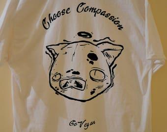 Urban Vegan Pig black or white T-Shirt