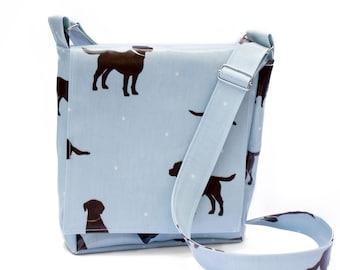 Labrador Bag - Poop Bag Dispenser - Polka Dot Dog Bag - Poo Bag Holder - Dog Walking Bag - Dog Owner Gift - Dog Mess Bag - Crossbody Bag