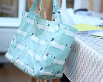 Dachshund Tote Bag - Doxi Shopping Bag - Sausage Dog Bag - Reusable Grocery Bag