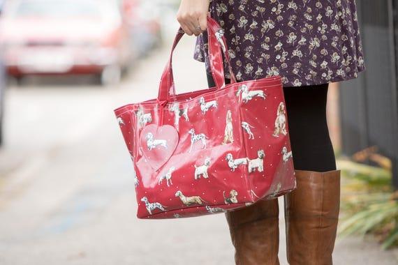 Einkaufstasche Wachstuch Shopping Markt Tasche   Etsy