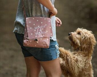 Dog Walking Bag - Crossbody Bag - Poop Bag Holder - Personalized Pet GiftPersonalized Pet