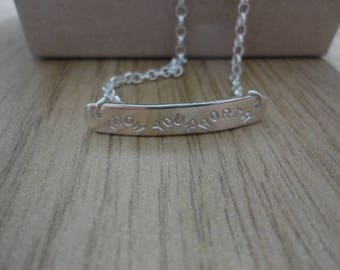 Know your worth Necklace
