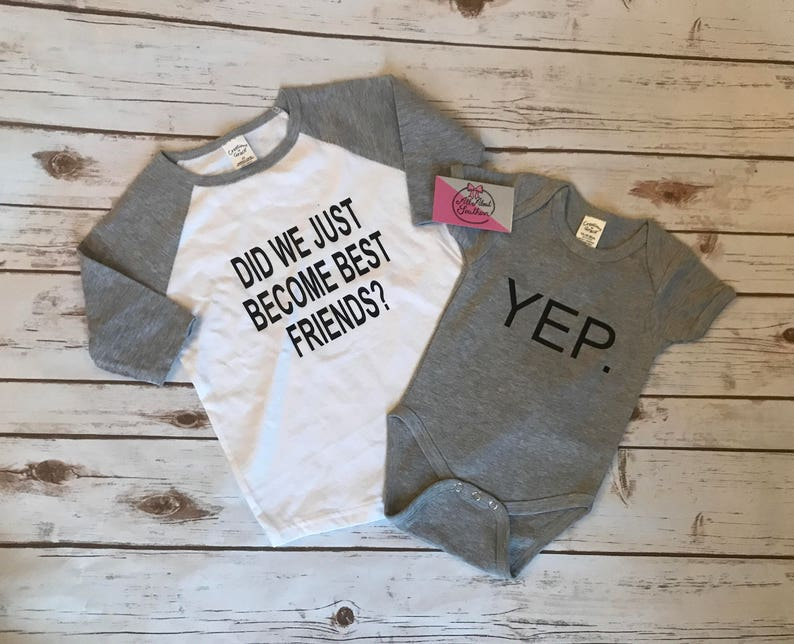 ed00312be Did we just become best friends sibling outfits brother   Etsy