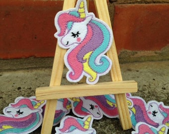 Adorable cute embroidery unicorn Patch.