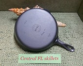 Griswold 8 Small Block Logo Early Handle Cast Iron Skillet P N 704C Circa 1939 To 1944 Vintage