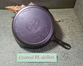 Griswold 9 Large Block Logo Cast Iron Skillet With Heat Ring P N 710J Circa 1920 To 1930 Vintage