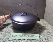 BSR 8 Century Series Made In USA Cast Iron Dutch Oven With Lid Circa After 1967 Vintage