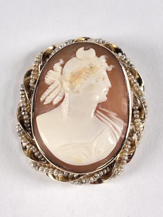 1800s 14K Gold Brooch