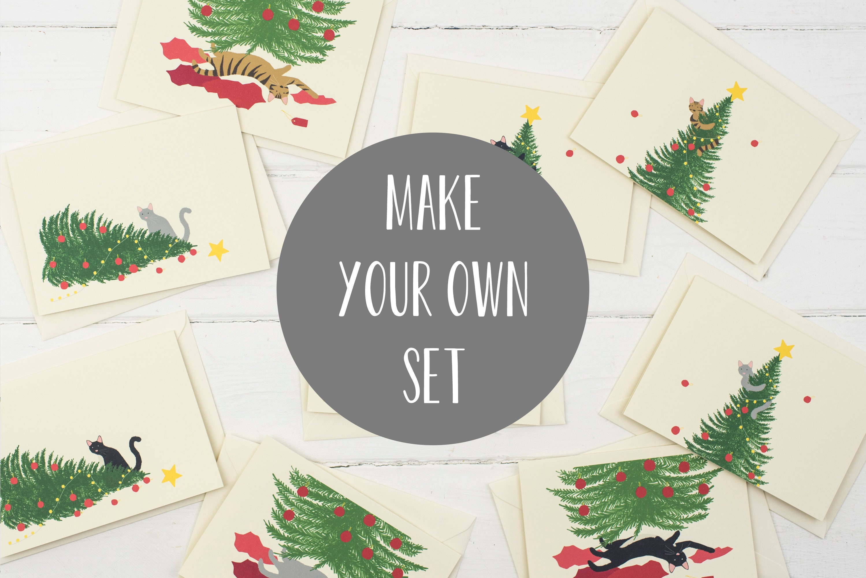 Make Your Own Christmas Card Set Choose Your Own Designs Of Etsy