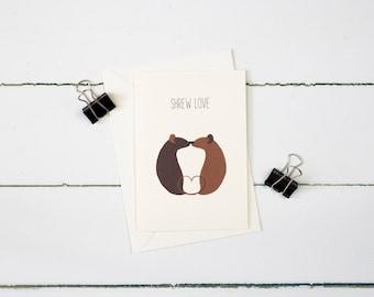 Shrew Love greetings card