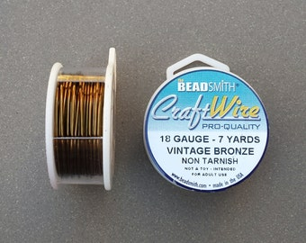 7 yards Vintage Bronze 18 Gauge Square Wrapping Wire