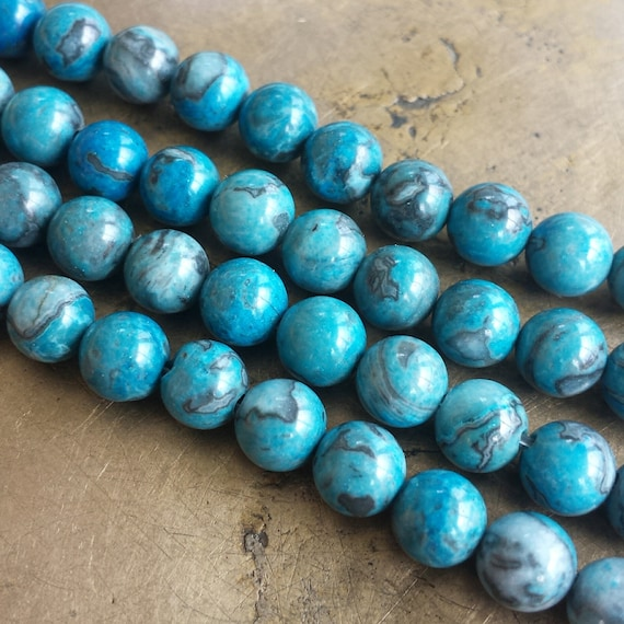 240 Wood 10MM Teal Dark Blue Green Hand Painted Round Spacer Craft Beads