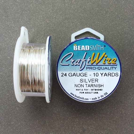 24 gauge Silver Plated Craft Wire 10 yards 24 GA | Etsy