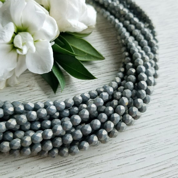 4mm Czech Fire Polished Beads Pacifica Poppy Seed Etsy