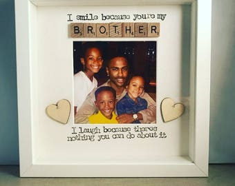 Scrabble Frame Brother