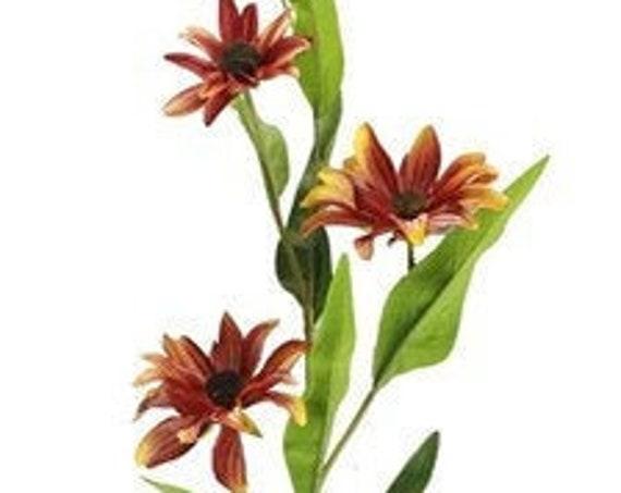 """31"""" Natural - Black Eye Susan-  Floral Pick - Dark Orange & Yellow Wildflowers - Sunset"""