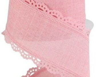 Pink Scallop Ribbon Etsy