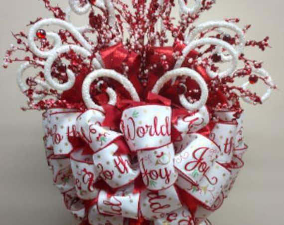 CHRISTMAS TREE TOPPER - Mischievous Elf - Angels - Whimsical Snowmen - Poinsettias - Rustic - Custom