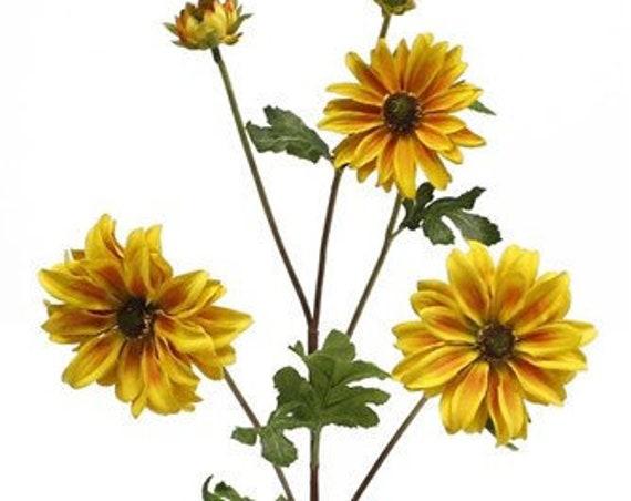 "26"" Natural - Black Eye Susan-  Floral Pick - Gold & Orange Wildflowers - spray"