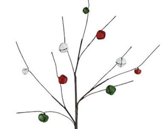 CHRISTMAS PICKS - Floral Picks - Picks - Christmas Decor - Bell Spray - Jingle Bells - Christmas Picks - Christmas Spray