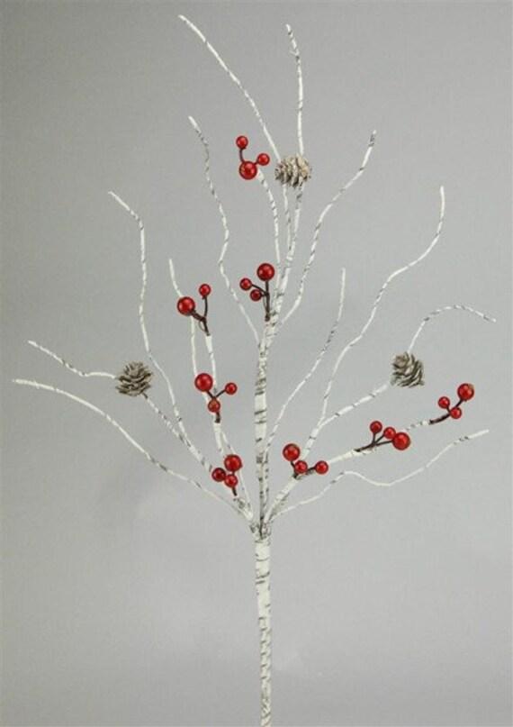 CHRISTMAS PICKS - Pinecone Spray - Birch Spray - Floral Picks - Christmas Floral - Christmas Sprays
