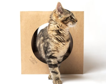Cat Tunnel - Hide and Sneak - expandable paper cat tunnel, fun hideaway for cats, all natural, silvervine scented
