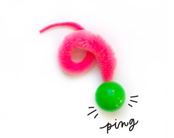 Wiggly Ping - cat toy ball, toy for cats, gift for cat lovers (colors vary)