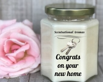Customized soy candles ~ candles with messages ~ new home gift ~ jar candles ~ candles ~ housewarming gift ~ personalized candles