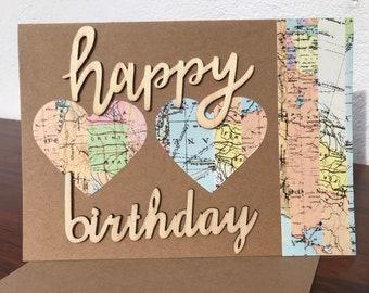 Travel inspired Happy Birthday card