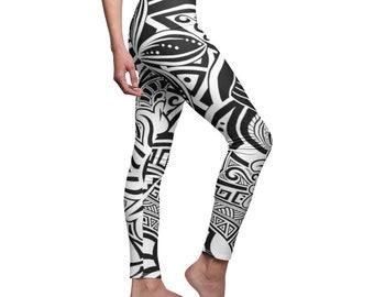 Women/'s Blue and White Splatter Paint Cut /& Sew Casual Leggings