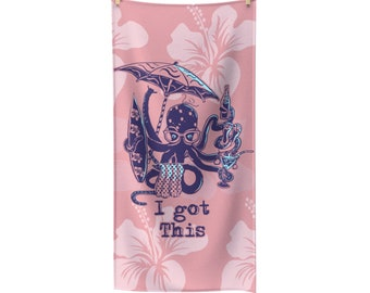 MultiTasking Going To The Beach Octopus Towel