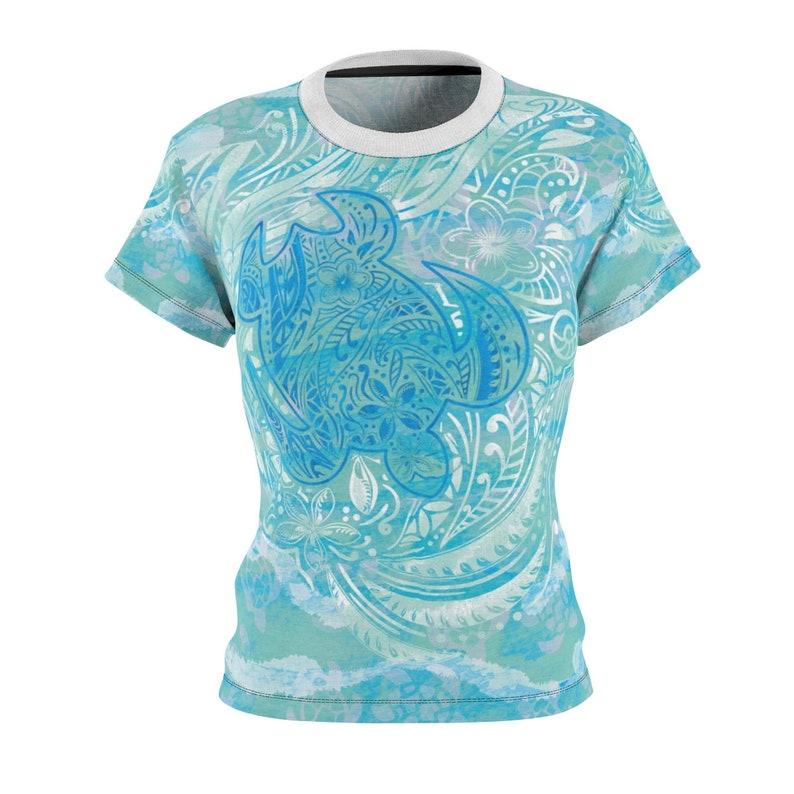 9e6811b2 Polynesian Turtle Ocean Spray By Nalu Threads Aop Cut Sew Tee   Etsy
