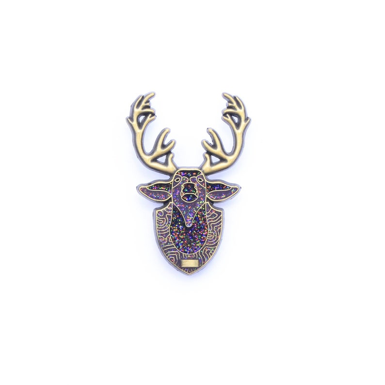 9abc62955977a Antique Gold Mounted Deer Lapel Pin