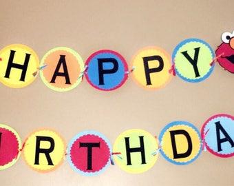 Sesame street first birthday banner