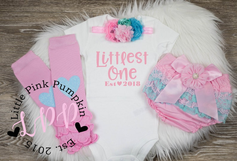 206f420e0 Baby Girl Clothes Littlest One new baby cute girl clothes | Etsy