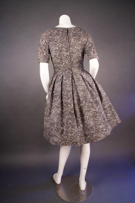 Vintage 1960's | Black & White Checkered Dress | … - image 5